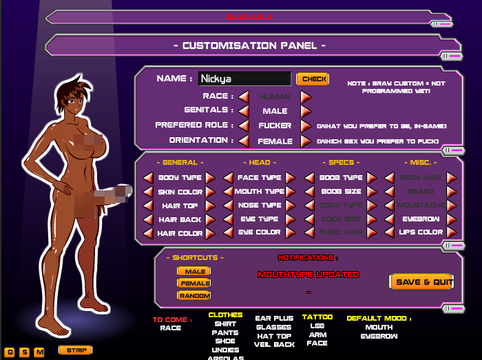 character creator porn game