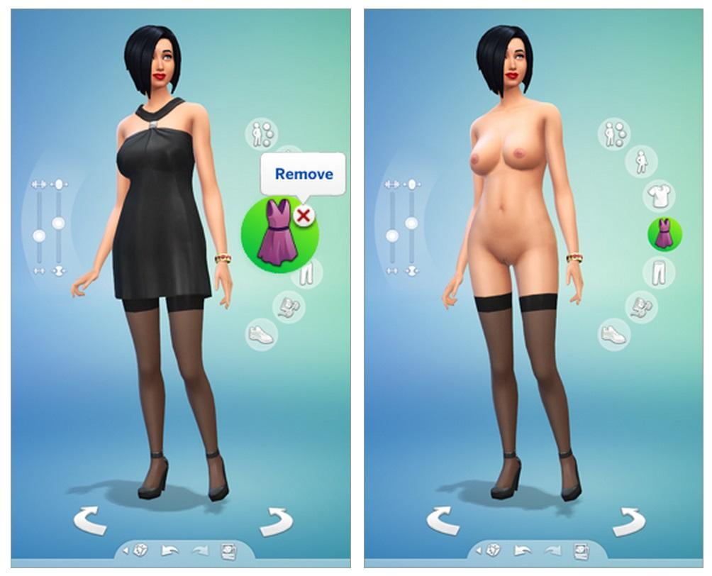 The sims 4 naked sims